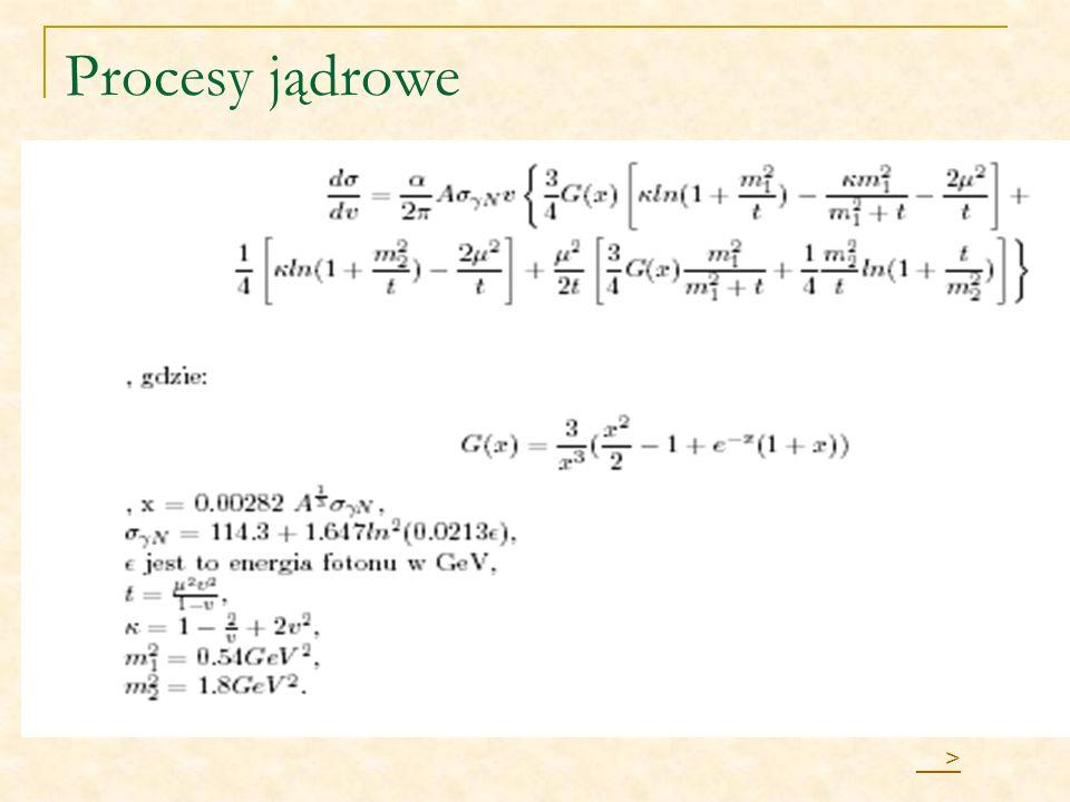 Procesy jądrowe __>