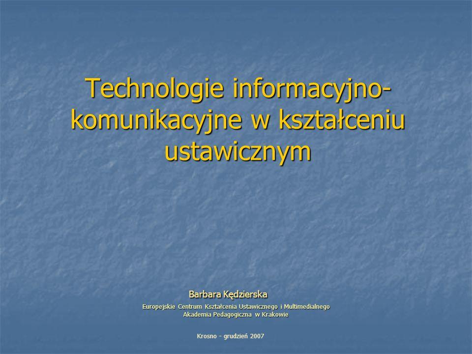 Technologie informacyjno-komunikacyjne w kształceniu ustawicznym