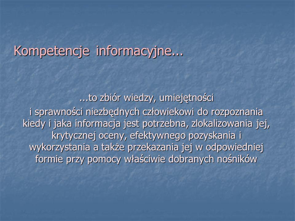 Kompetencje informacyjne...