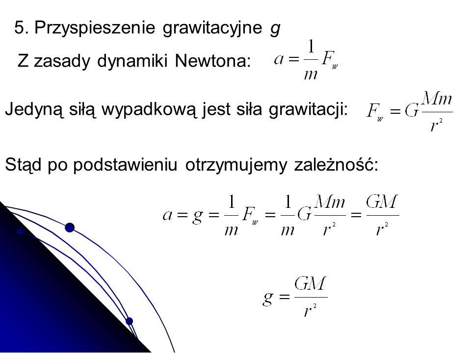 5. Przyspieszenie grawitacyjne g