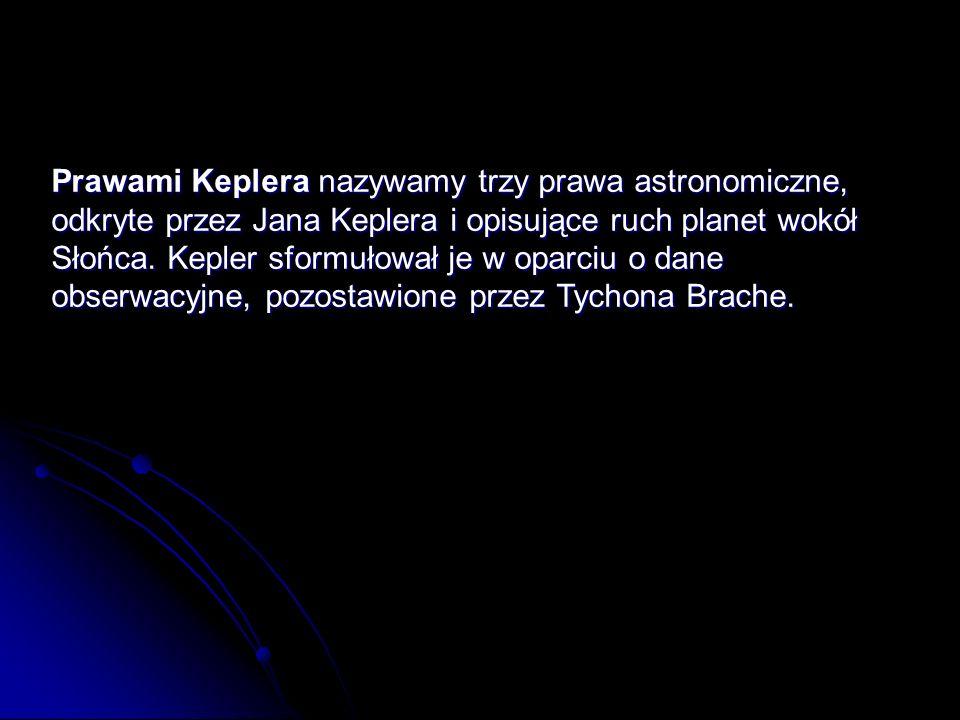 Prawami Keplera nazywamy trzy prawa astronomiczne, odkryte przez Jana Keplera i opisujące ruch planet wokół Słońca.