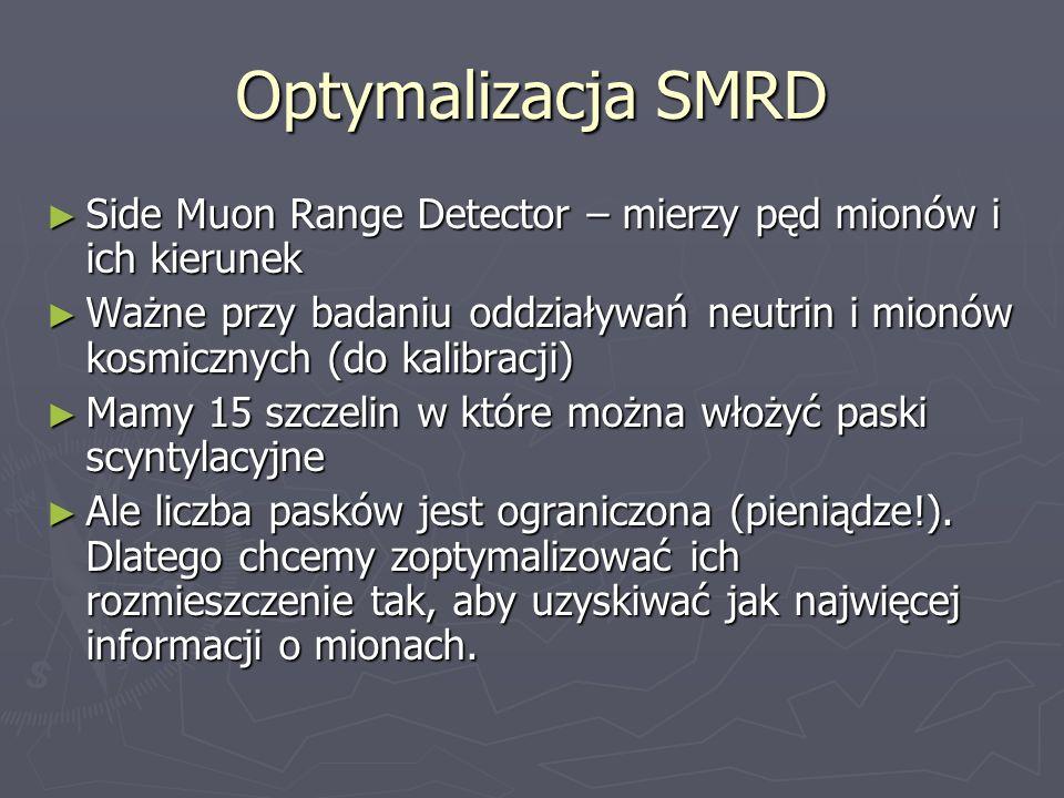 Optymalizacja SMRD Side Muon Range Detector – mierzy pęd mionów i ich kierunek.