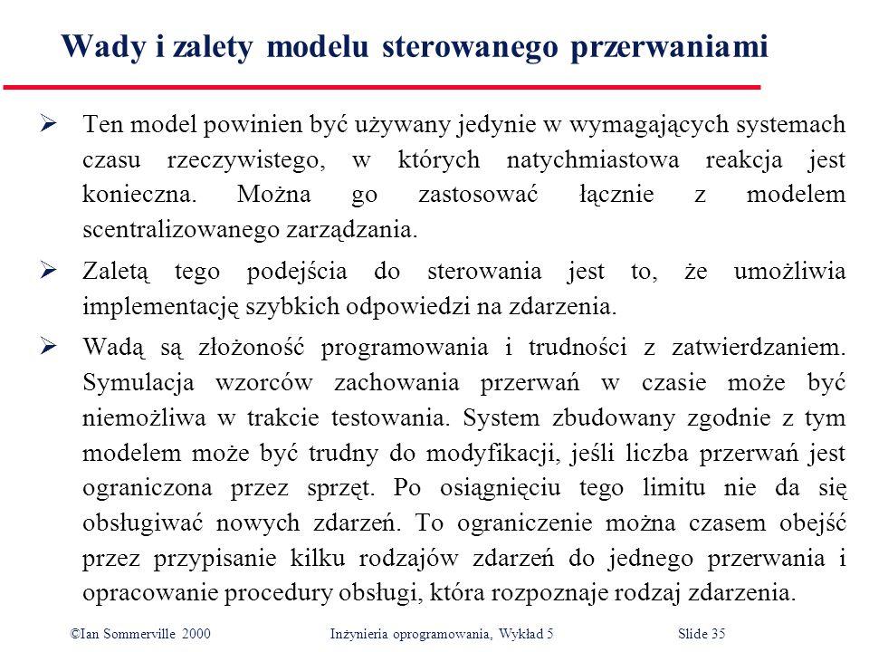 Wady i zalety modelu sterowanego przerwaniami