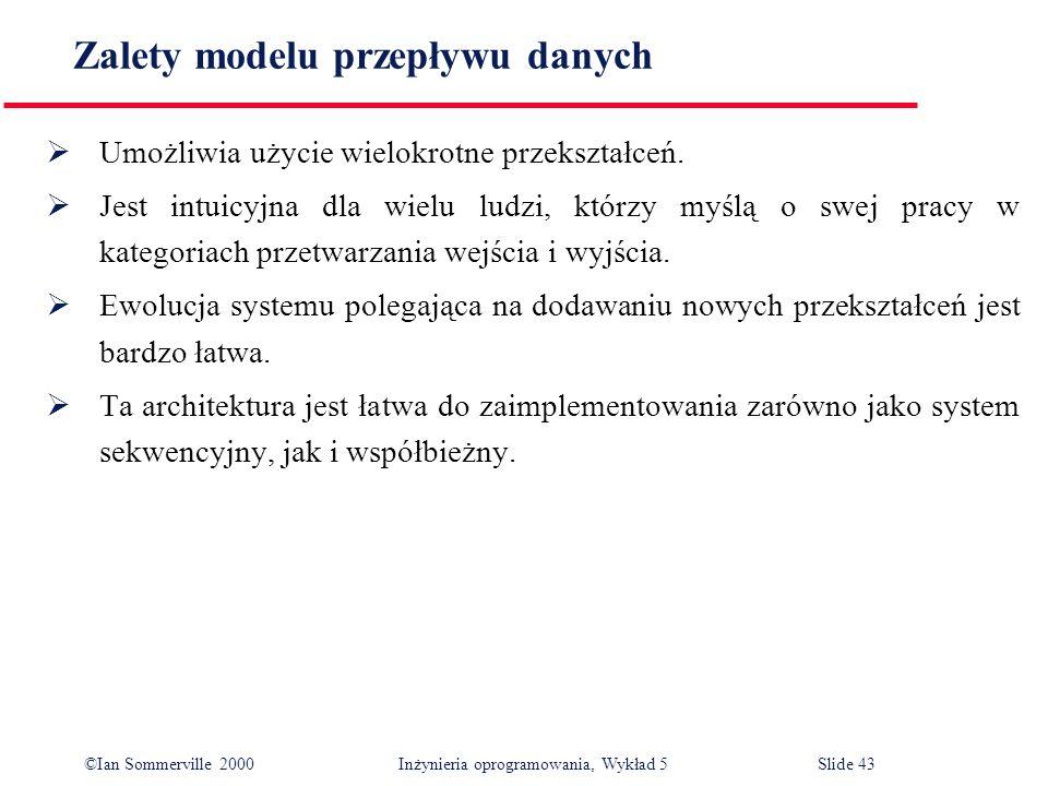 Zalety modelu przepływu danych