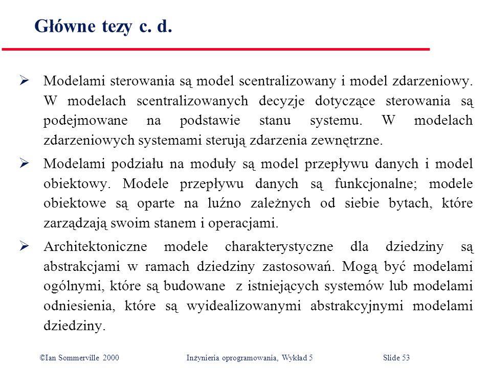 Główne tezy c. d.