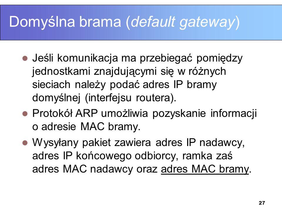 Domyślna brama (default gateway)