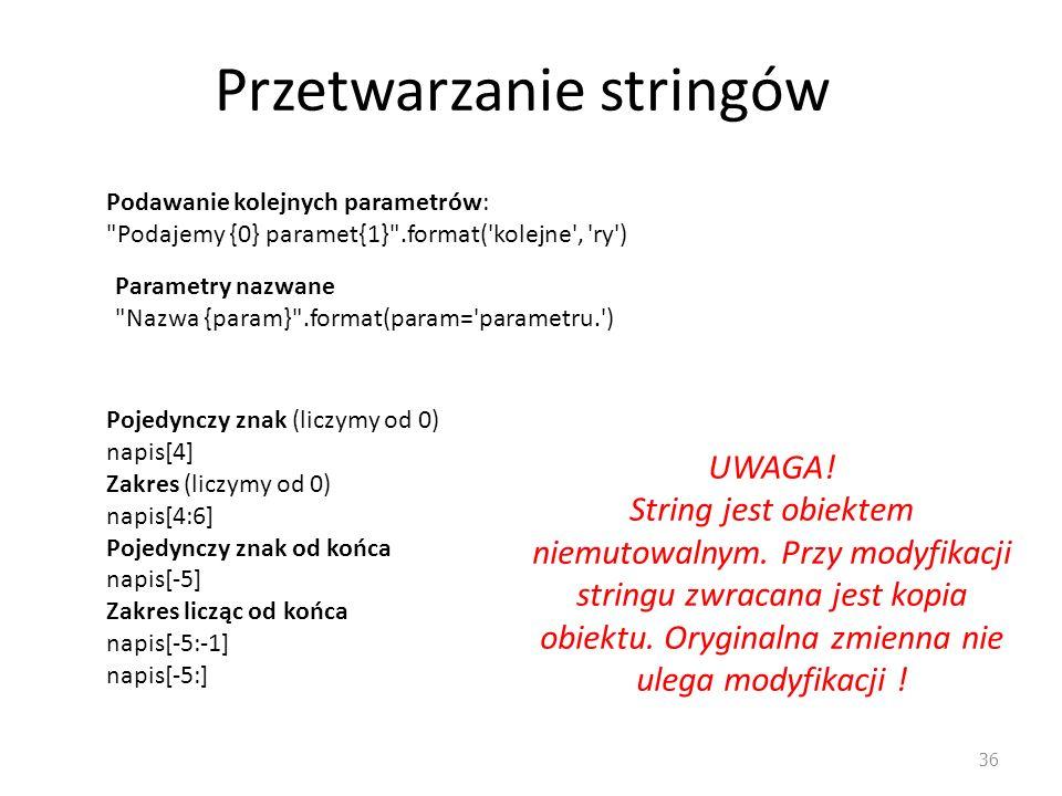 Przetwarzanie stringów