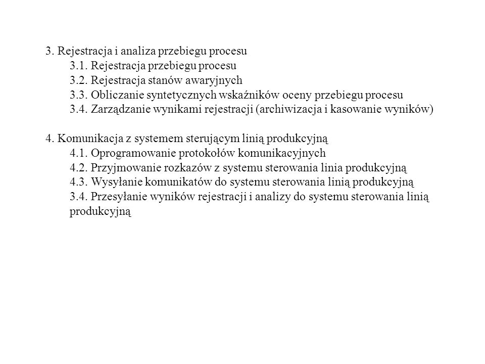 3. Rejestracja i analiza przebiegu procesu