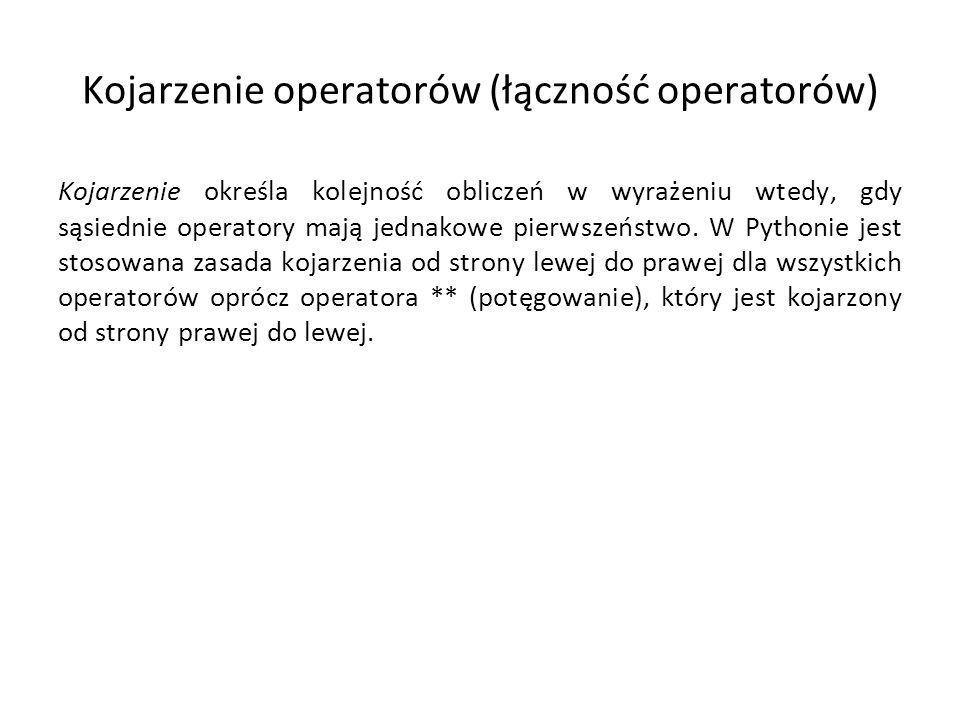 Kojarzenie operatorów (łączność operatorów)