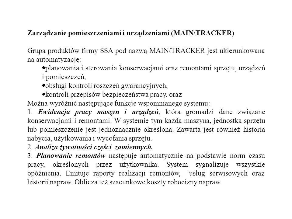 Zarządzanie pomieszczeniami i urządzeniami (MAIN/TRACKER)