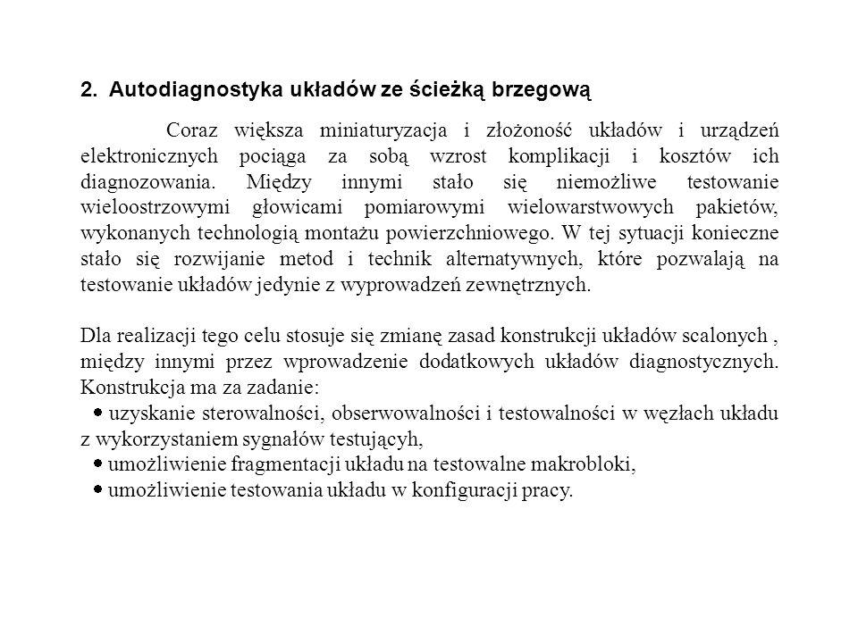 2. Autodiagnostyka układów ze ścieżką brzegową