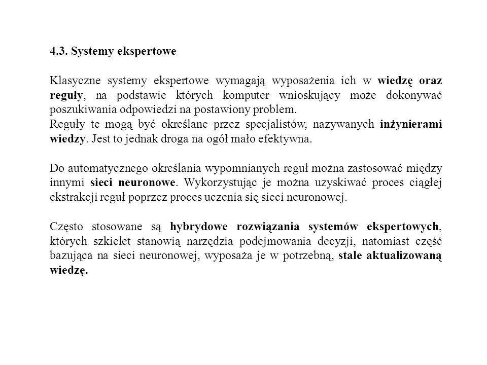 4.3. Systemy ekspertowe
