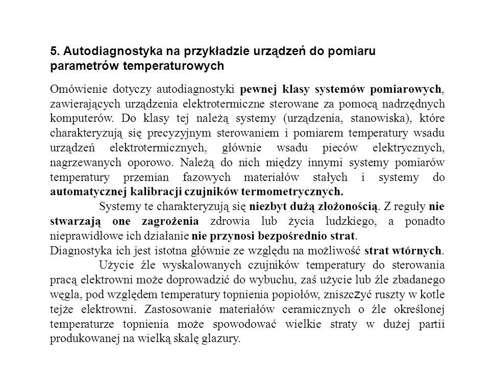 5. Autodiagnostyka na przykładzie urządzeń do pomiaru parametrów temperaturowych