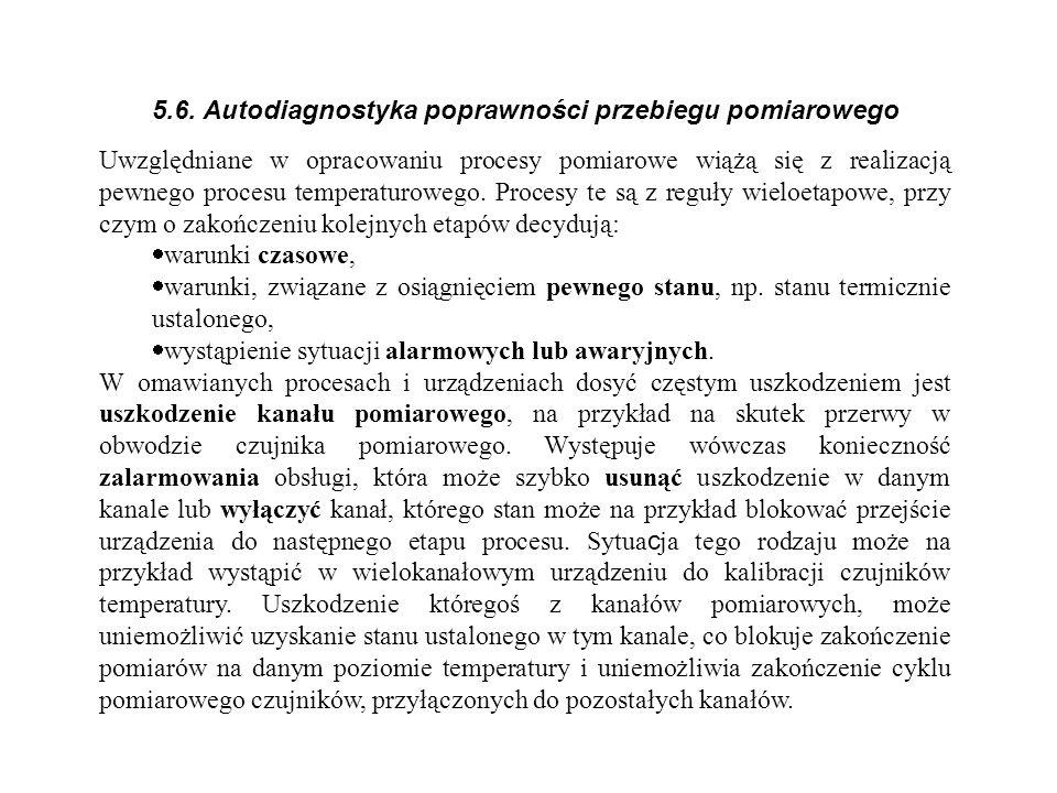 5.6. Autodiagnostyka poprawności przebiegu pomiarowego
