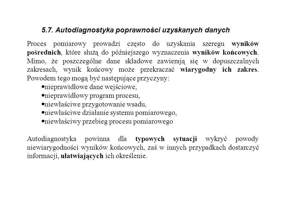 5.7. Autodiagnostyka poprawności uzyskanych danych