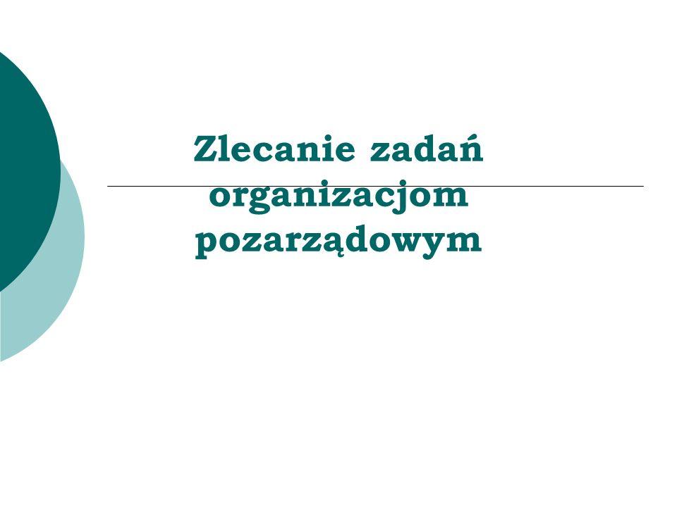 Zlecanie zadań organizacjom pozarządowym