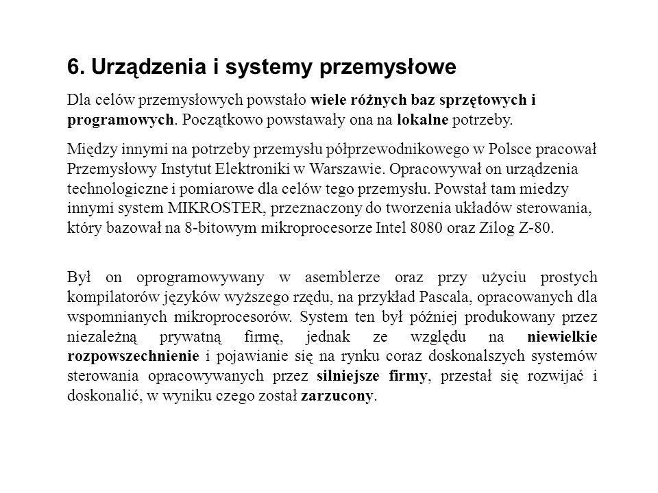 6. Urządzenia i systemy przemysłowe
