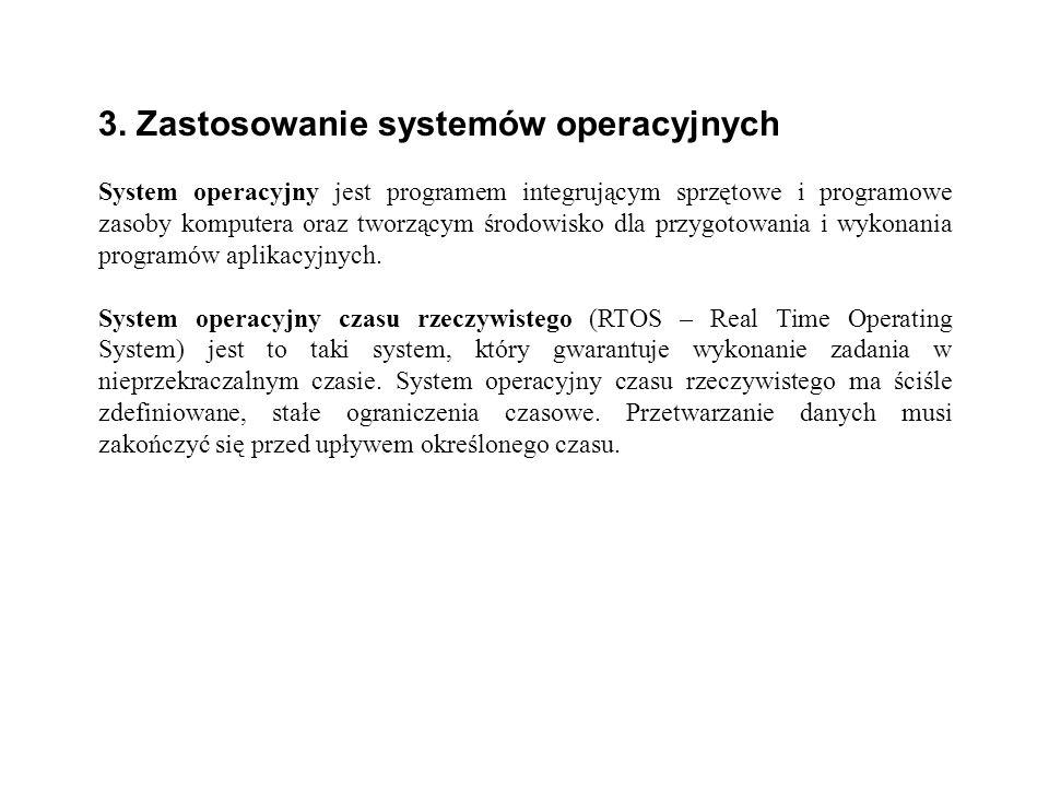 3. Zastosowanie systemów operacyjnych