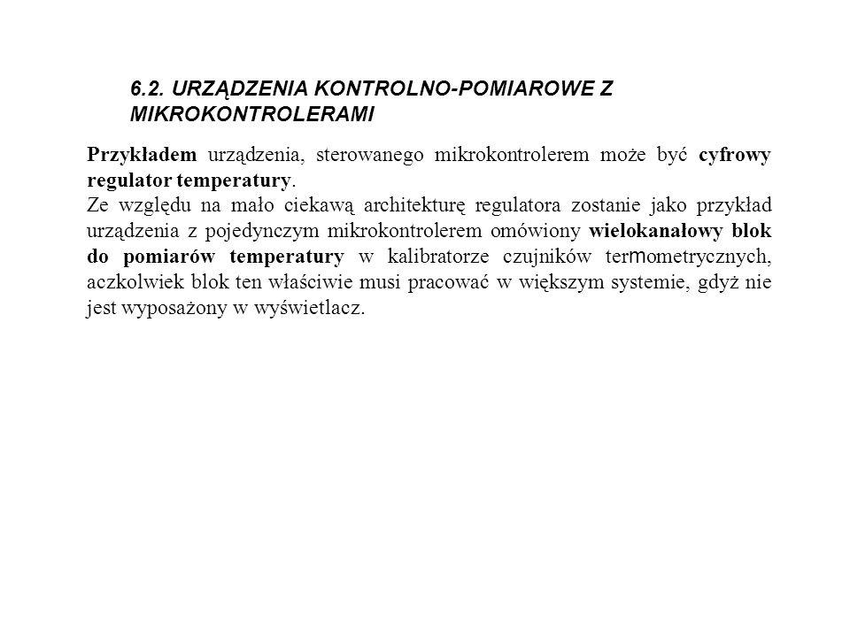 6.2. URZĄDZENIA KONTROLNO-POMIAROWE Z MIKROKONTROLERAMI