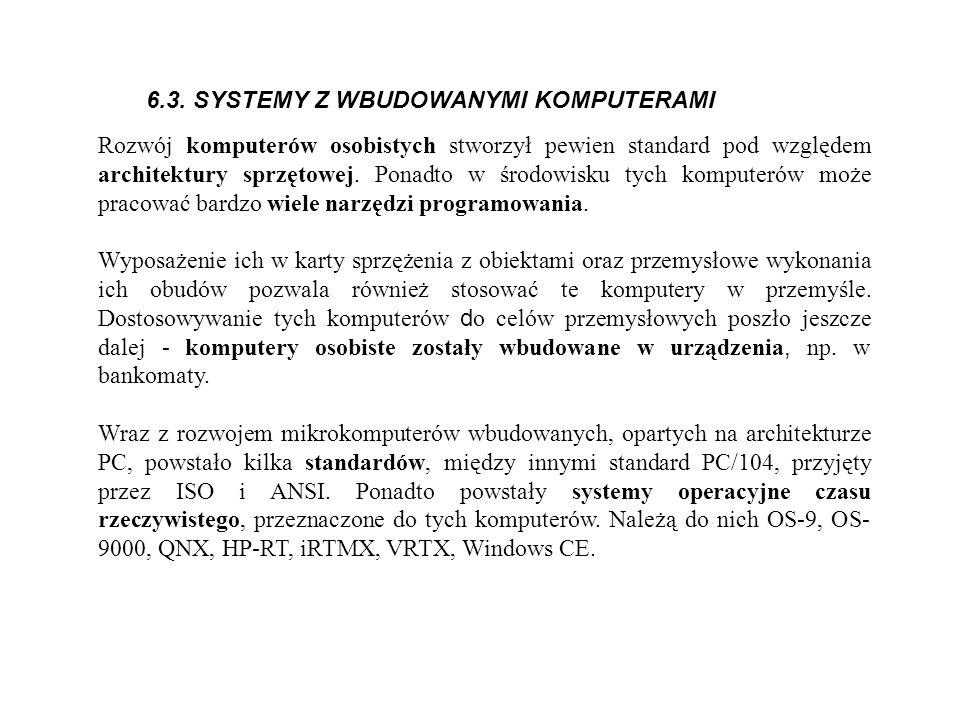 6.3. SYSTEMY Z WBUDOWANYMI KOMPUTERAMI