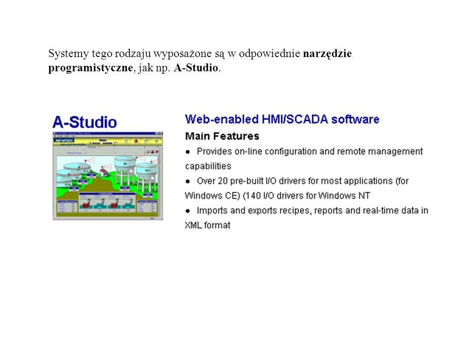 Systemy tego rodzaju wyposażone są w odpowiednie narzędzie programistyczne, jak np. A-Studio.