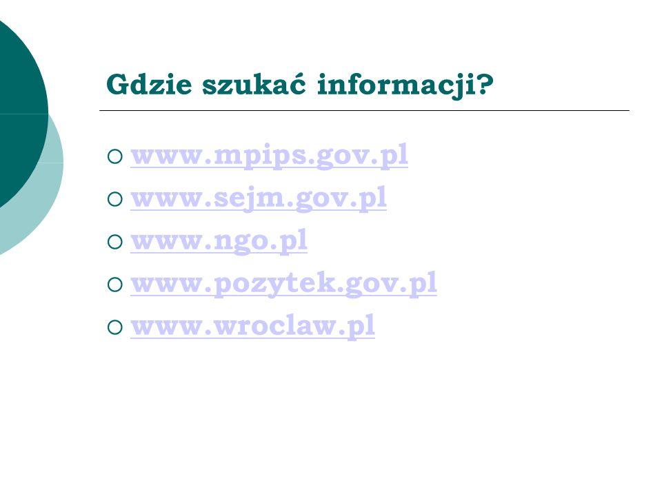 Gdzie szukać informacji