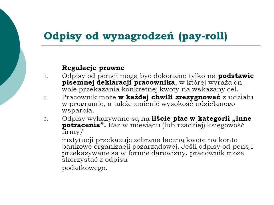 Odpisy od wynagrodzeń (pay-roll)