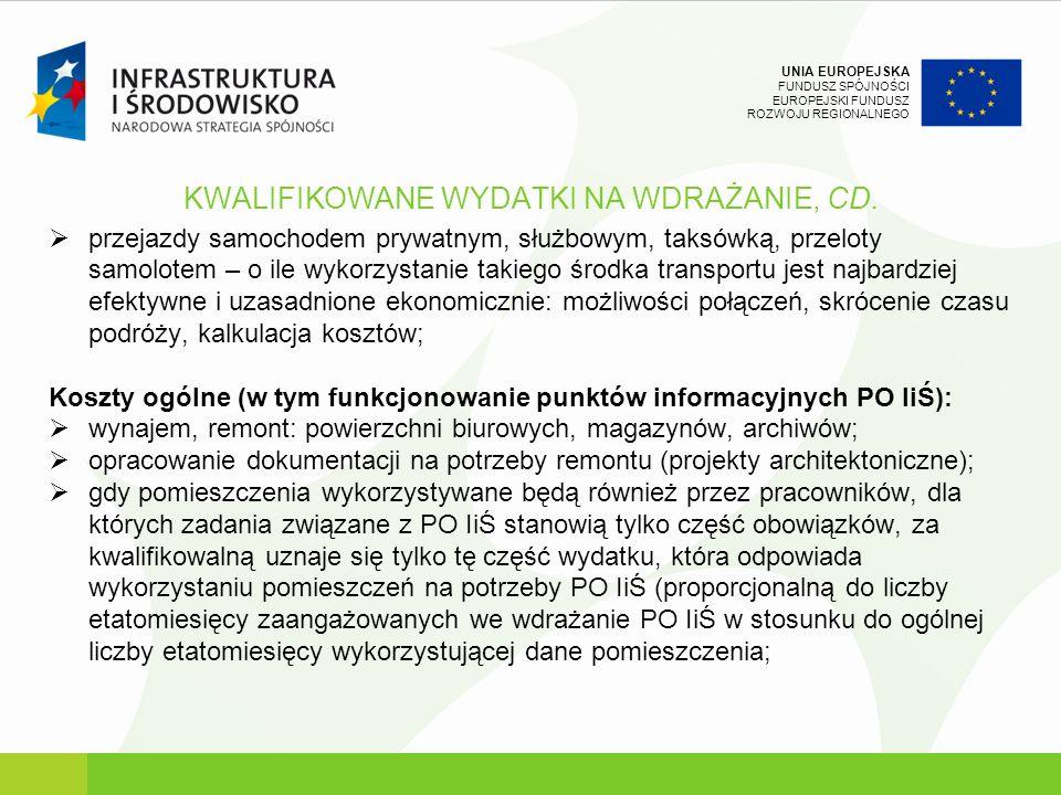 KWALIFIKOWANE WYDATKI NA WDRAŻANIE, CD.