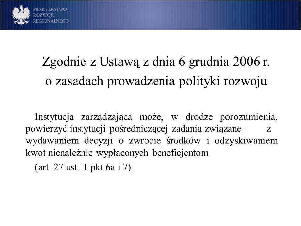 Zgodnie z Ustawą z dnia 6 grudnia 2006 r.