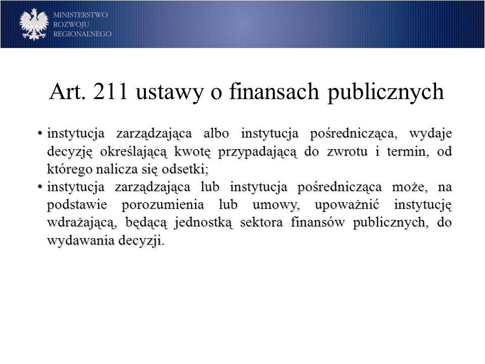 Art. 211 ustawy o finansach publicznych