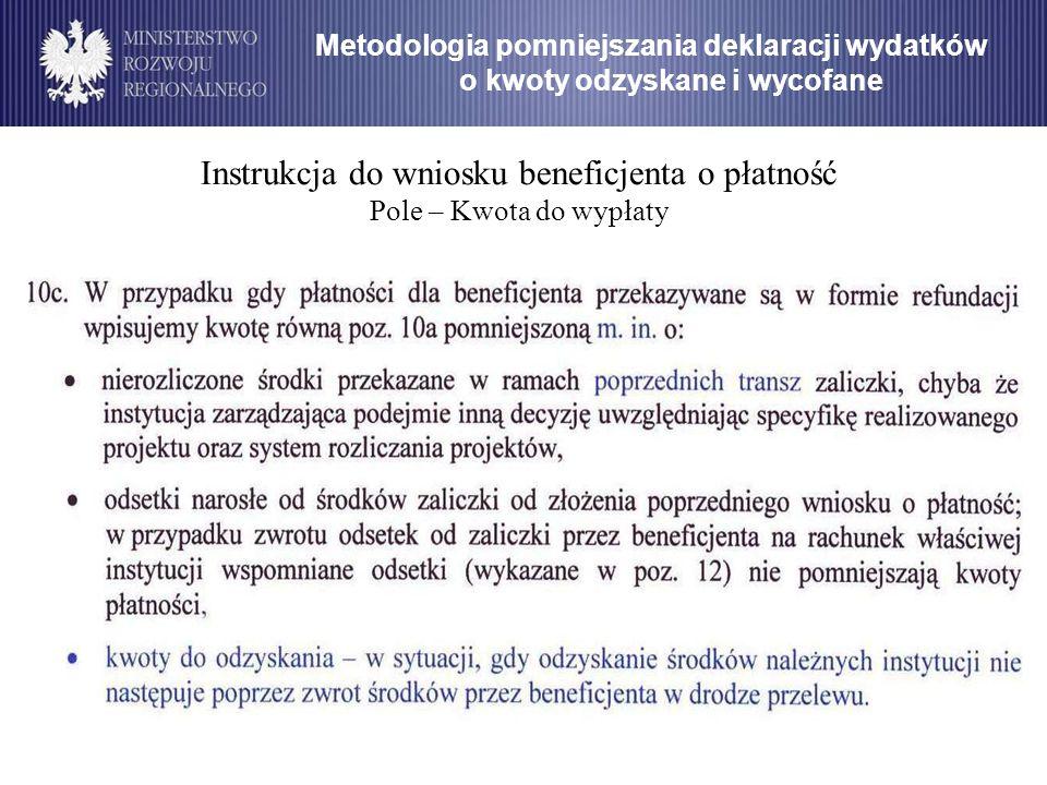Instrukcja do wniosku beneficjenta o płatność