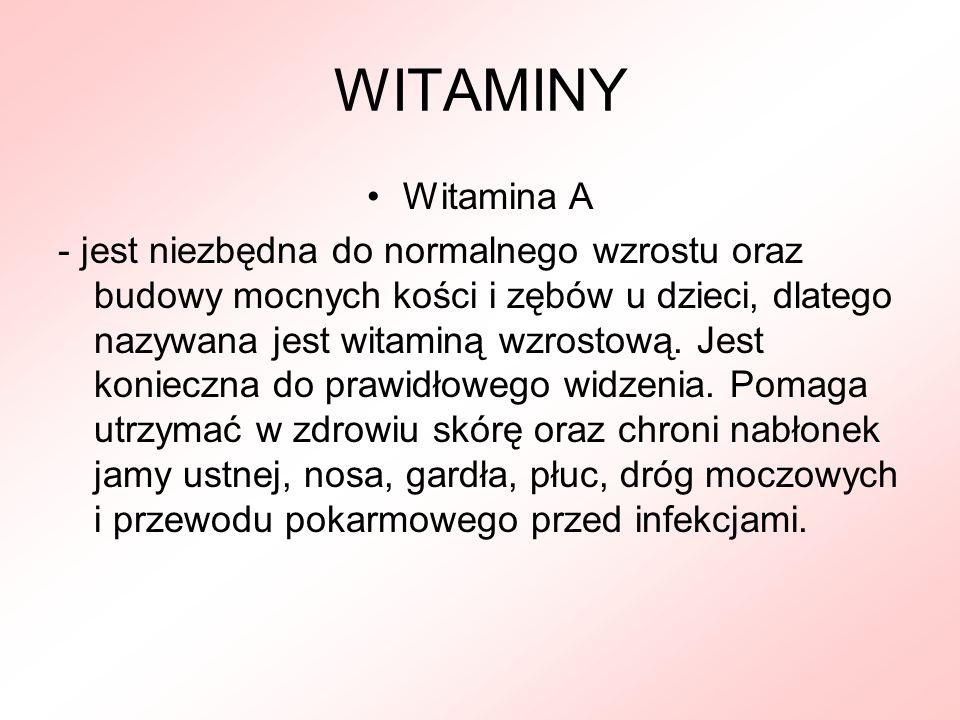 WITAMINY Witamina A.