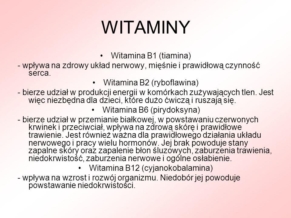 WITAMINY Witamina B1 (tiamina)