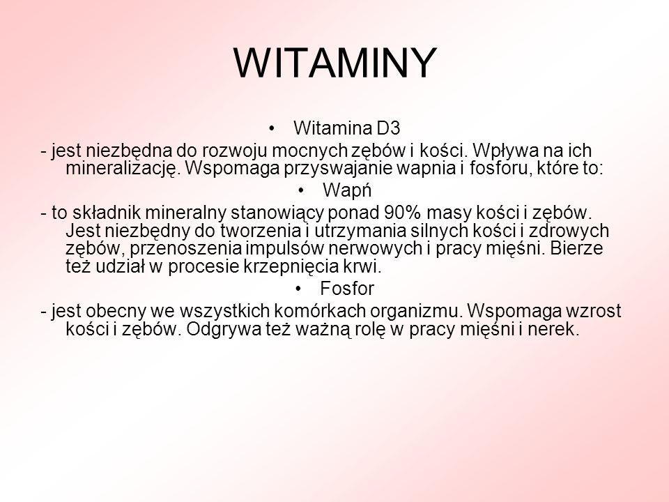 WITAMINY Witamina D3.