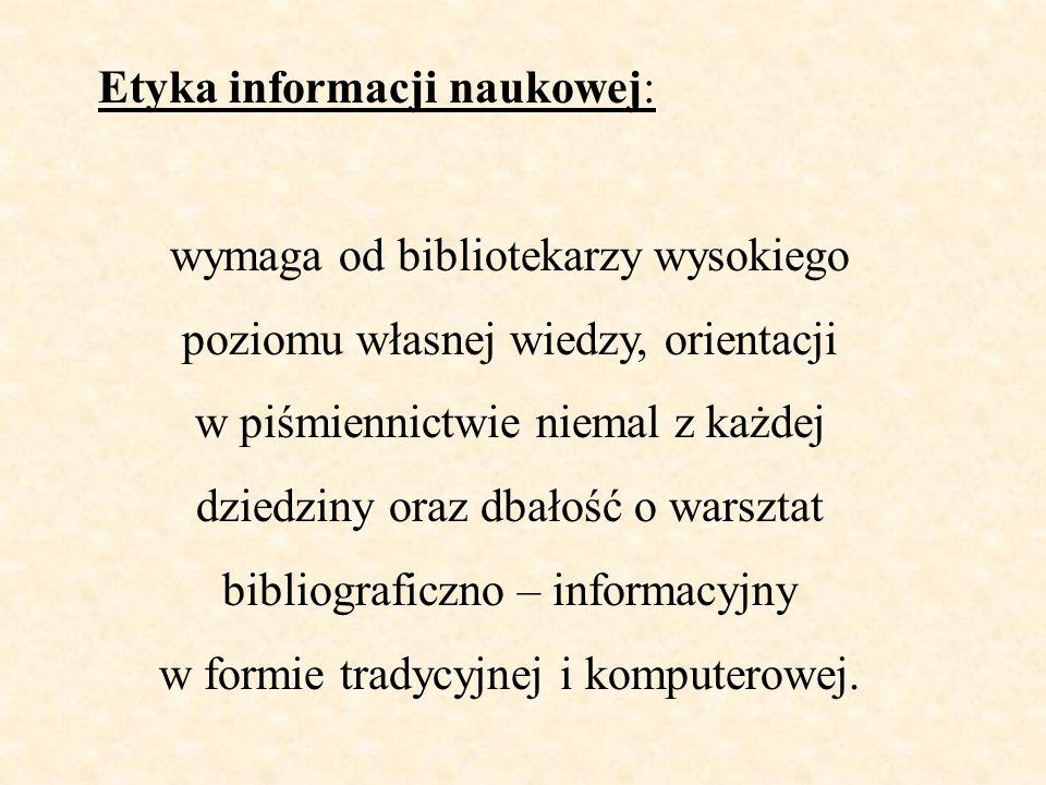 Etyka informacji naukowej: