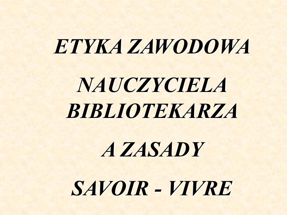 NAUCZYCIELA BIBLIOTEKARZA