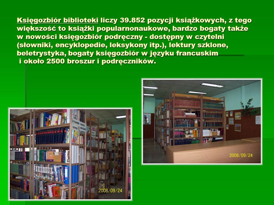 Księgozbiór biblioteki liczy 39