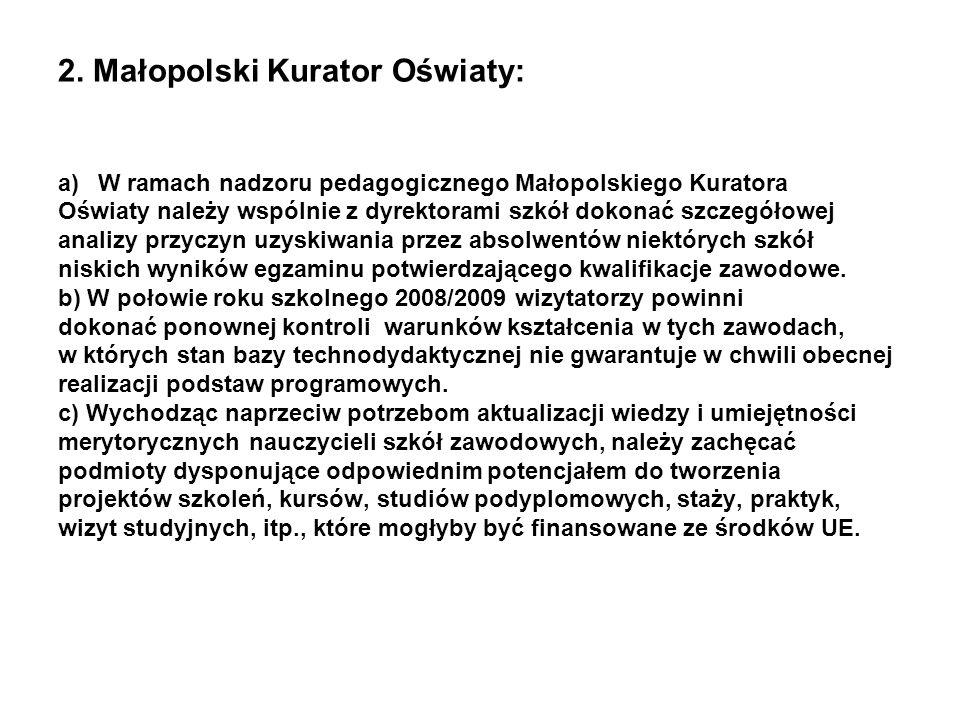 2. Małopolski Kurator Oświaty: