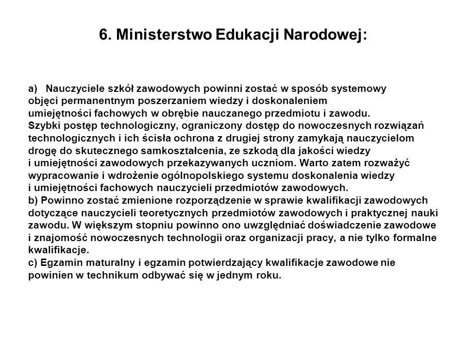 6. Ministerstwo Edukacji Narodowej: