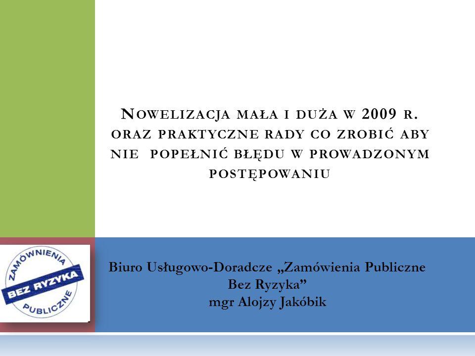 """Biuro Usługowo-Doradcze """"Zamówienia Publiczne Bez Ryzyka"""
