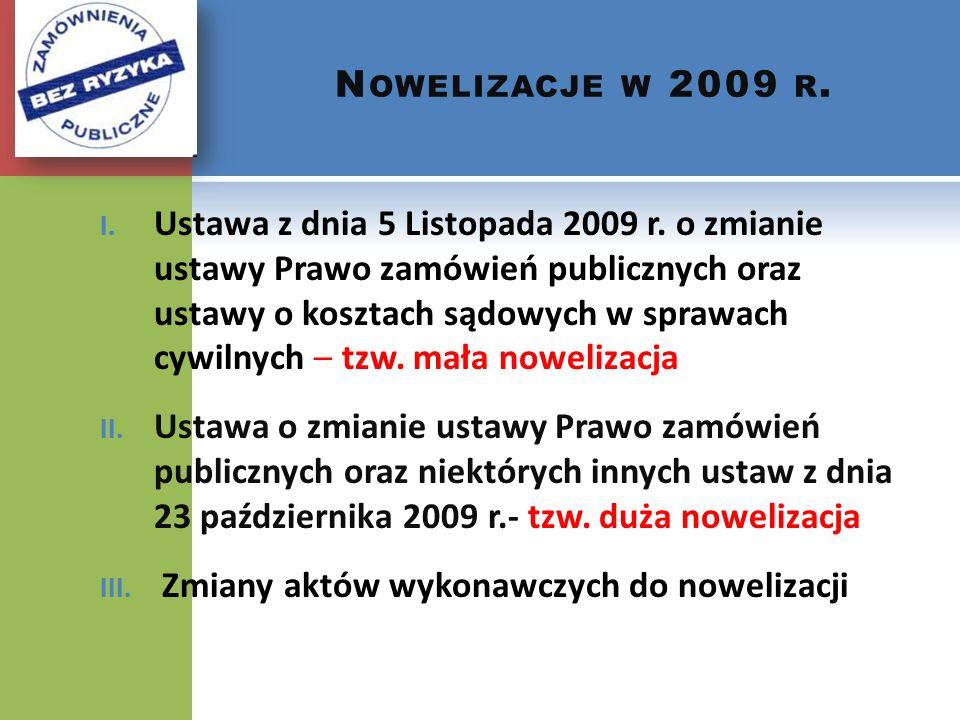 Nowelizacje w 2009 r.