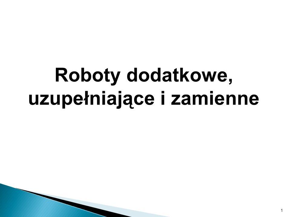 Roboty dodatkowe, uzupełniające i zamienne