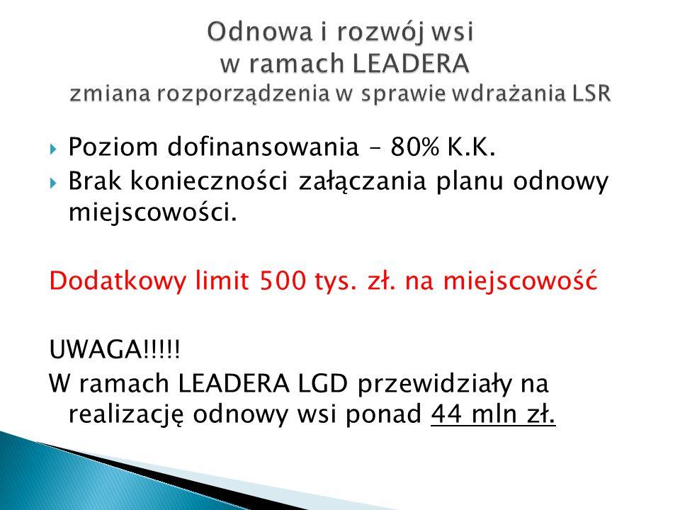 Odnowa i rozwój wsi w ramach LEADERA zmiana rozporządzenia w sprawie wdrażania LSR