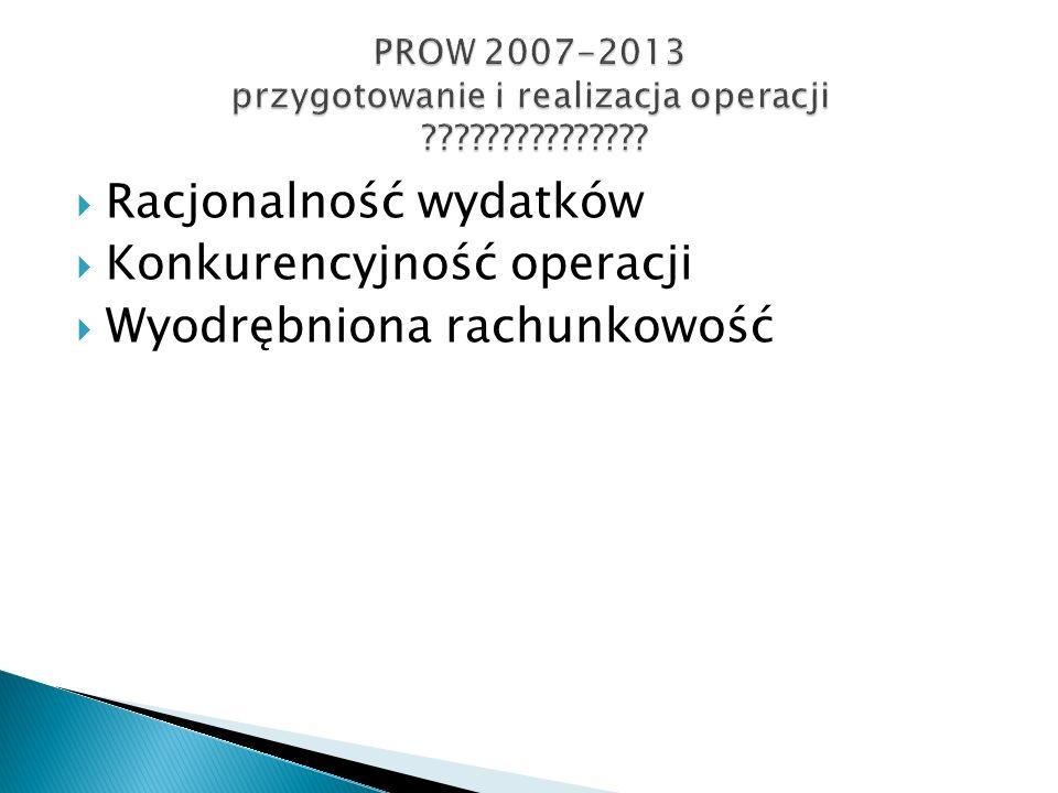 PROW 2007-2013 przygotowanie i realizacja operacji