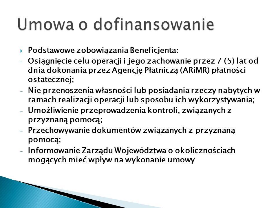 Umowa o dofinansowanie