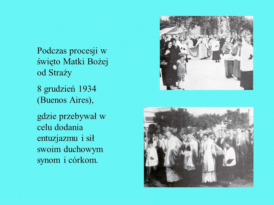 Podczas procesji w święto Matki Bożej od Straży