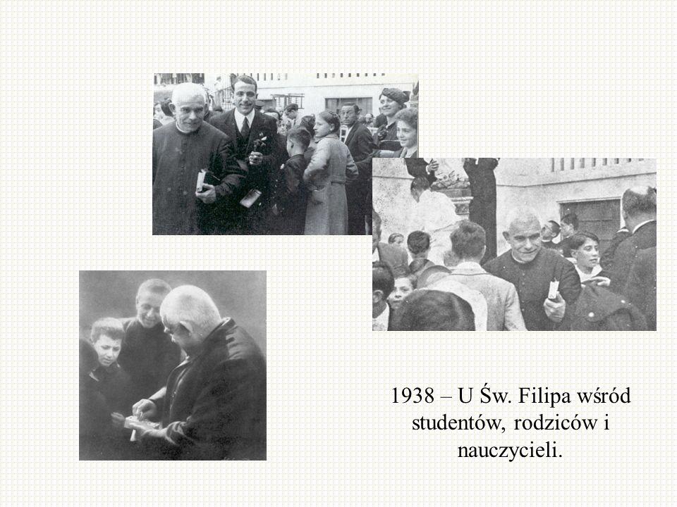 1938 – U Św. Filipa wśród studentów, rodziców i nauczycieli.