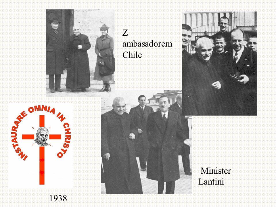 Z ambasadorem Chile Minister Lantini 1938