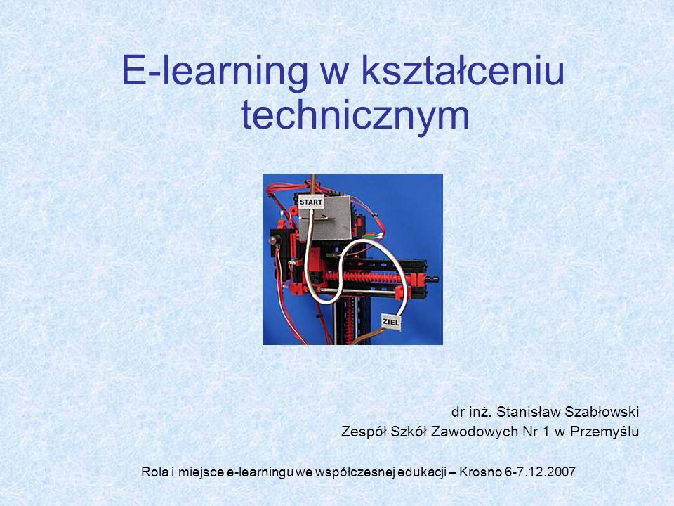 E-learning w kształceniu technicznym