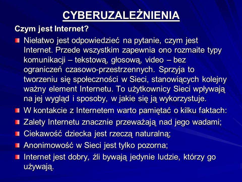 CYBERUZALEŻNIENIA Czym jest Internet
